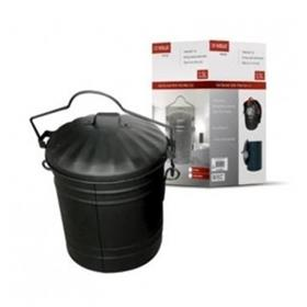 Ash Bucket and Lid - Black